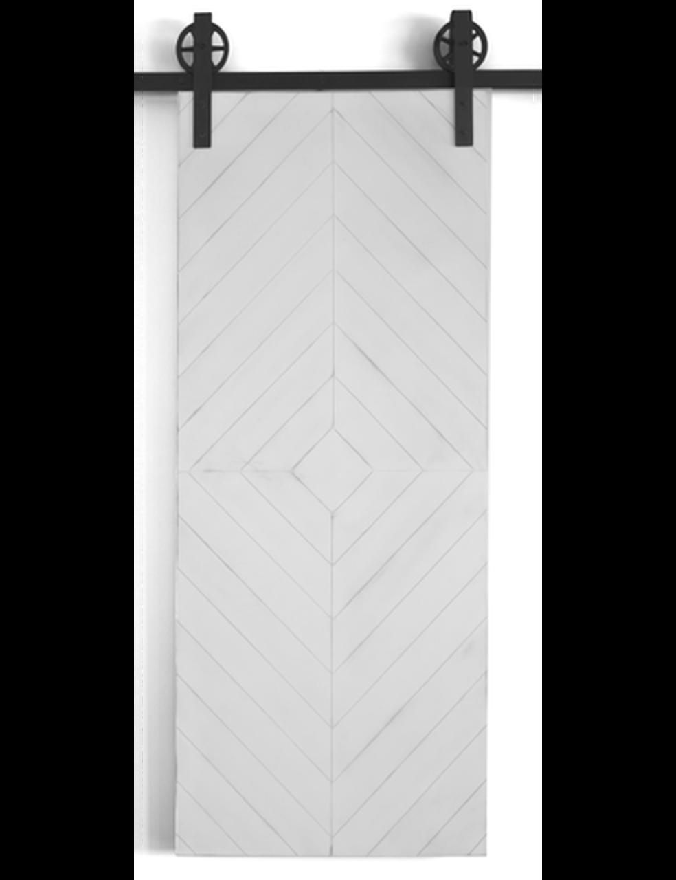 diy wood modern diamond pattern barn door