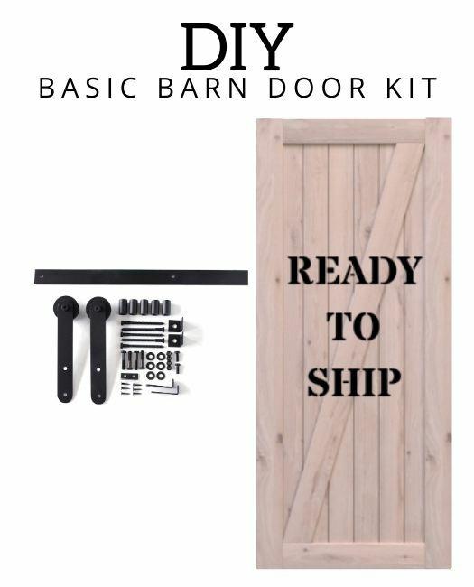 DIY Basic Barn Door Kit With Classic Hardware