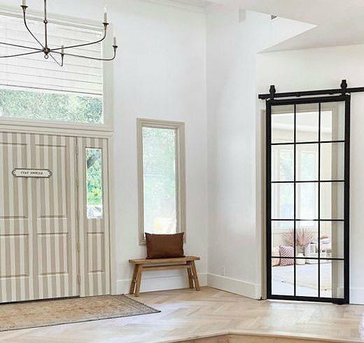 Fully Custom French Style Sliding Barn Door Lifestyle Playroom