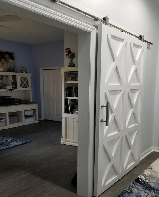 The Harper Custom Sliding Barn Door - Lifestyle Office