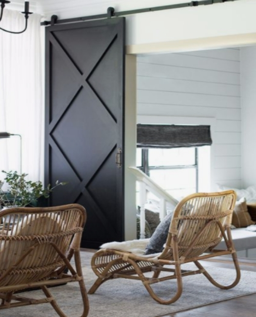 custom xavier wood barn door with two x pattern