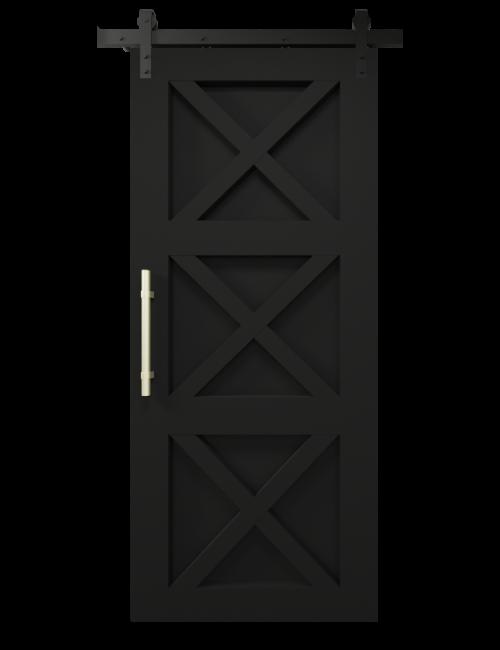 the ava custom sliding barn door matte black