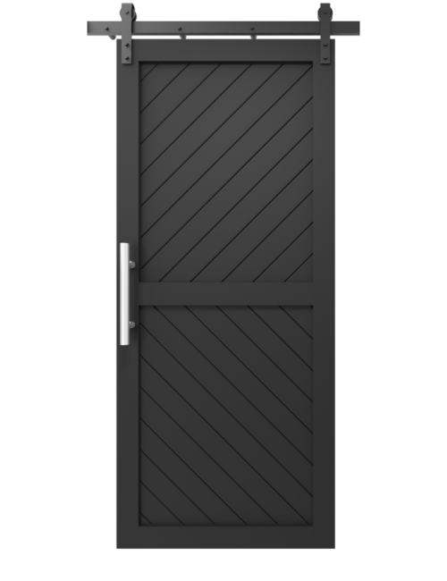 two panel angle etched matte black