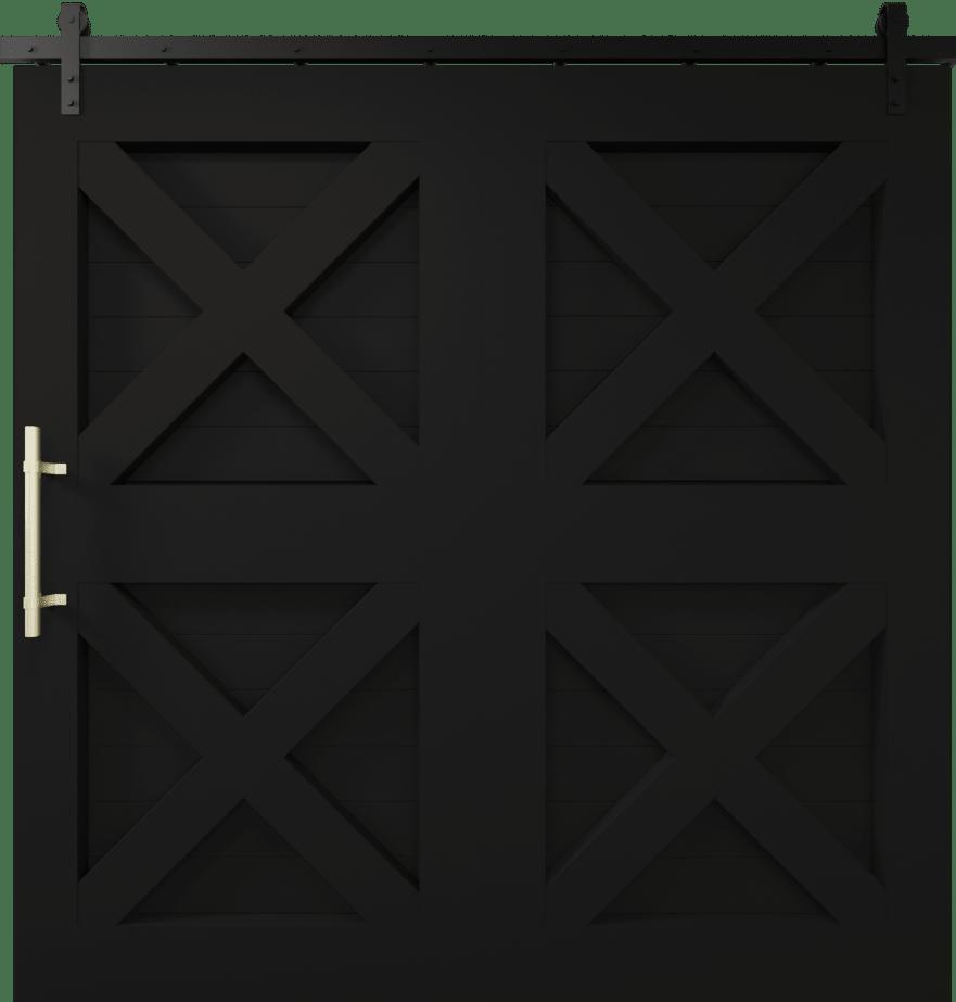 4x super wide barn door matte black
