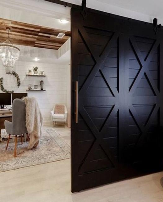 Isabella double wide 4 x pattern custom wood sliding barn door