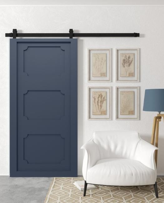 navy shaker door sliding barn door sitting room