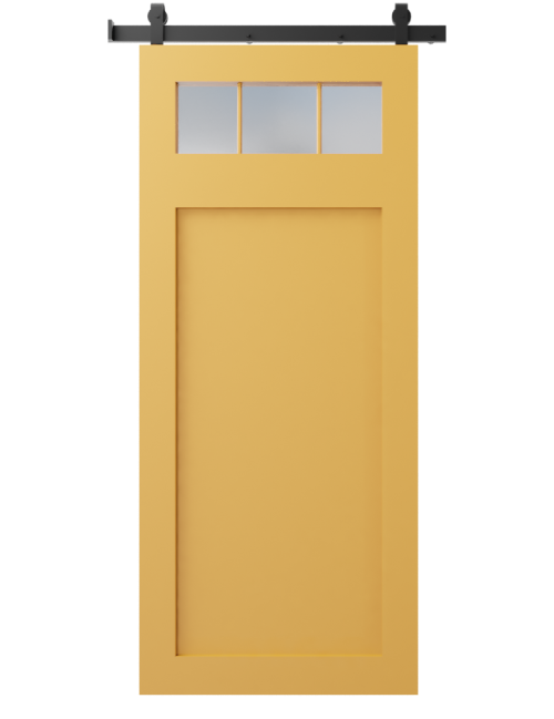 3 window custom sliding barn door sw  6696 quilt gold