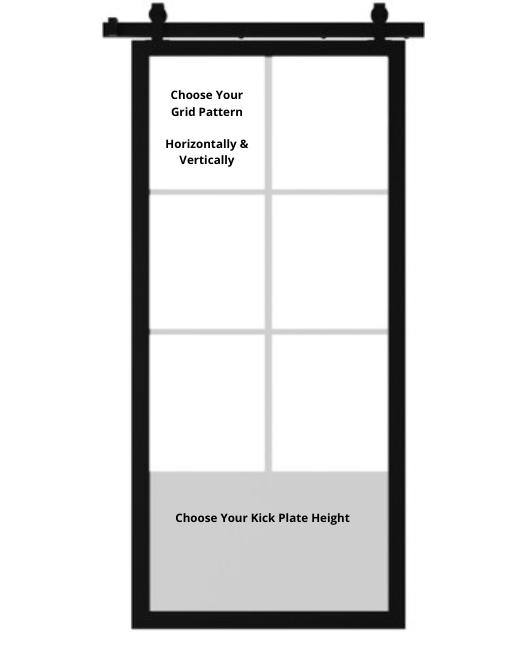 Fully Custom metal Barn Door Grid Explanation