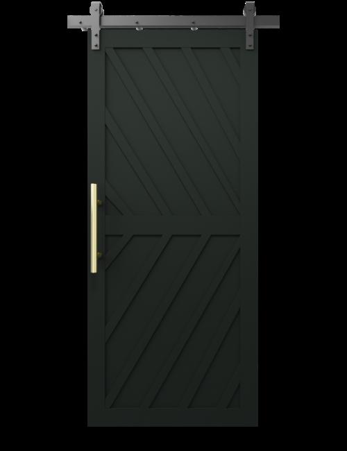 The Nora Diagonal Wood Pattern Custom Sliding Barn Door