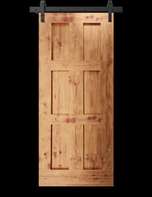 The Rylee Six Panel Shaker Custom Sliding Barn Door