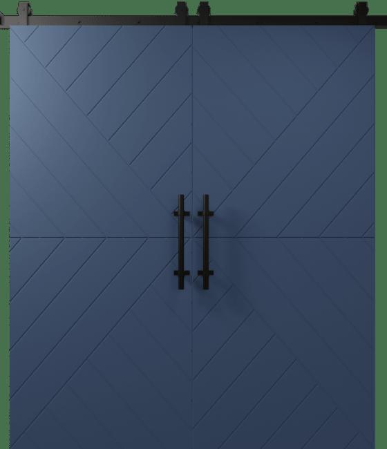Modern Arrow Double Sliding Barn Door