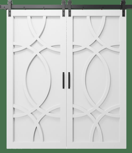 The Alice Wood Swirl Custom Double Sliding Barn Door