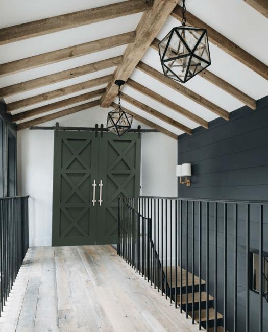 The Ava Custom Double Sliding Barn Door - Lifestyle Hallway