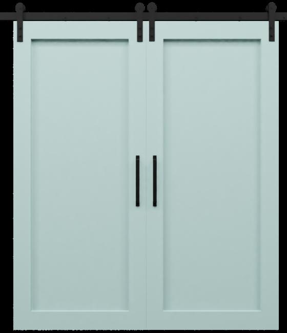 Full Panel Shaker Double Barn Door