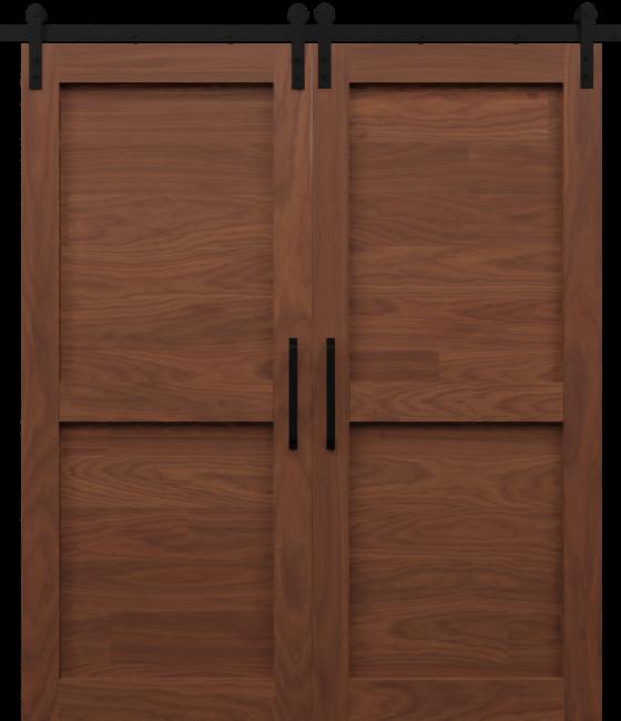 2 Panel Shaker Double Barn Door