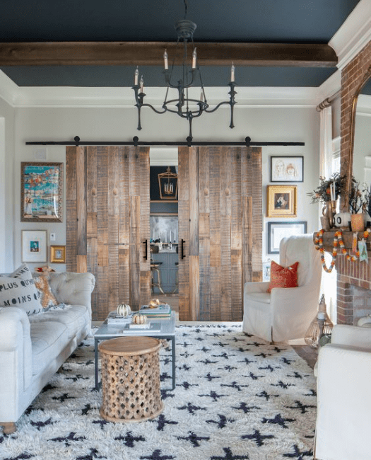 jefferson reclaimed double barn door lifestyle