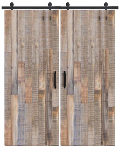 jefferson vertical reclaimed wood double barn door
