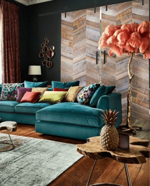 madison reclaimed double barn door lifestyle living room