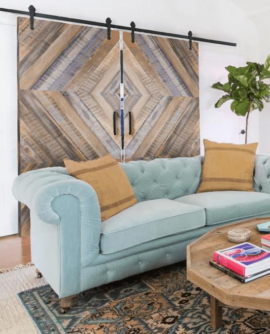 lewis reclaimed wood wouble barn door lifestyle living room