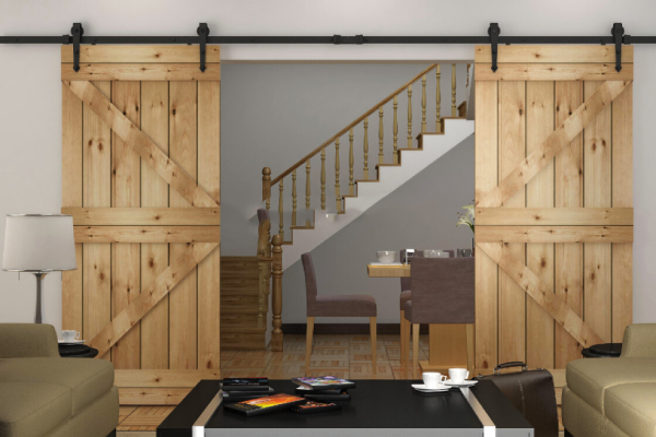 Double Sliding Barn Door