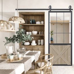 Half X French Sliding Kitchen Barn Door 256X256