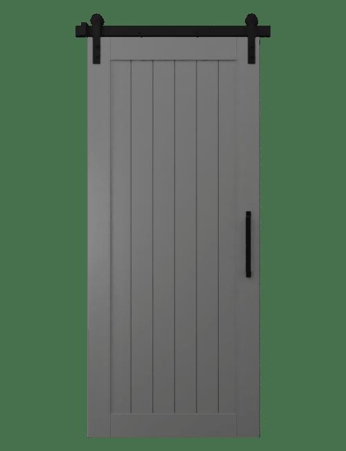 Gray Sliding Barn Doors