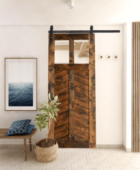 Wood Foyer Sliding Barn Door