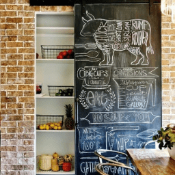 The Chalkboard Sliding Barn Door 256X256