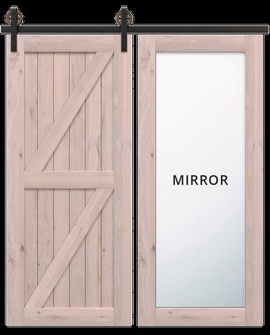 Unfinished Wood Sliding Barn Doors