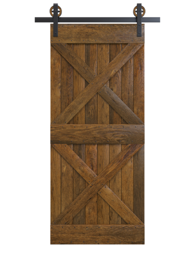 Brown Sliding Barn Doors