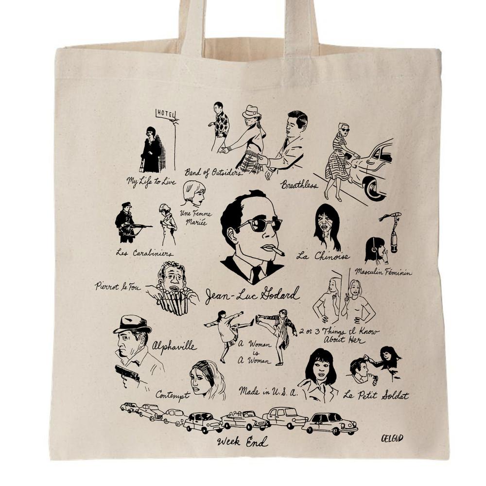 Jean-Luc Godard Tote Bag