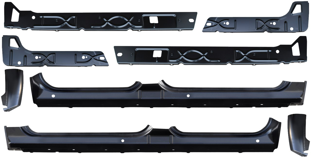 2007-2013 Chevrolet Silverado Rocker Panels and Cab Corners Standard Cab