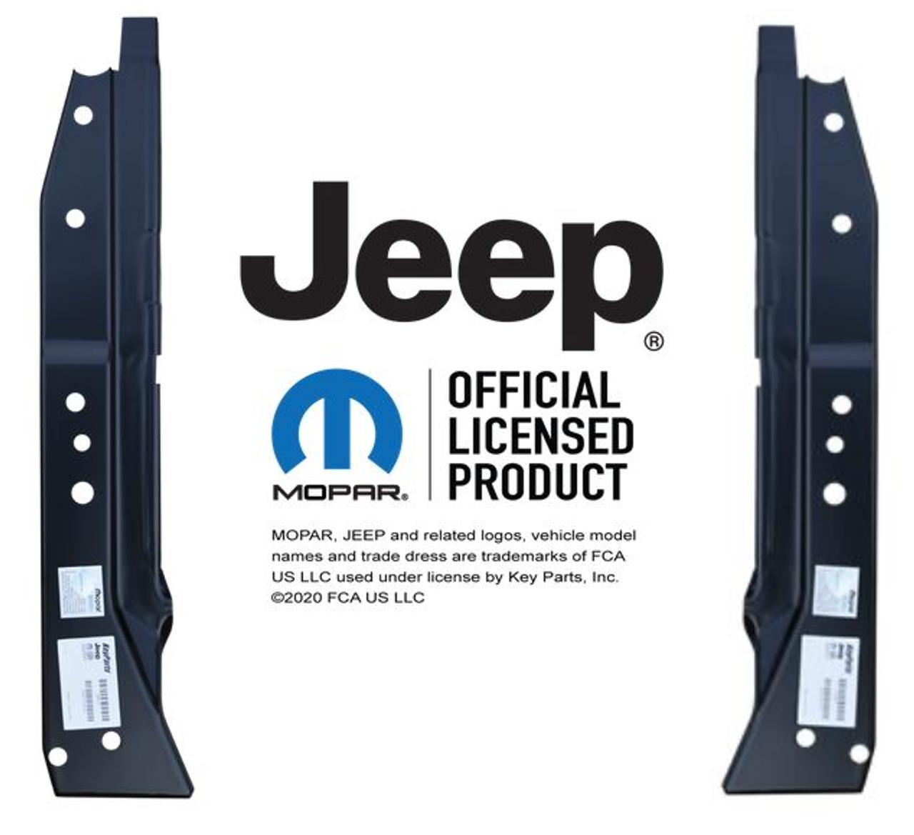Lh Rh 1976-1986 Jeep CJ7 1987-1995 YJ Door Hinge Pillar Inner Brace Set