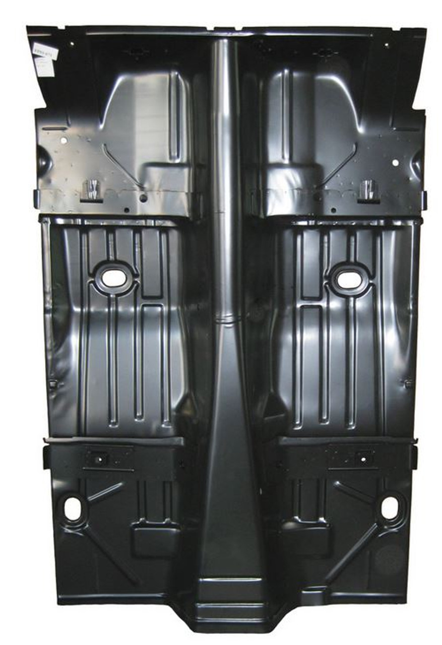 1967-1969 Camaro Firebird Coupe Complete Floor With Braces Tubbed For Wider Wheel Wells