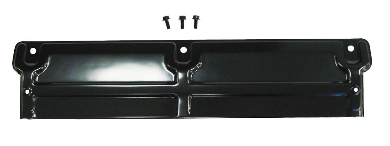1968-1972 Chevelle Elcamino 1970-1972 Monte Carlo Radiator Top Panel 3 Mounting Holes Without AC Black