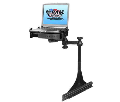 Panasonic Toughbook Laptop Mount for Semi Trucks with National Seating Captain's Chair