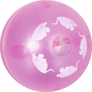 Rosa aktiveringsboll till katt
