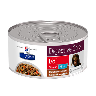 Prescription Diet i/d Stress Stew hundfoder ris, grönsaker och kyckling