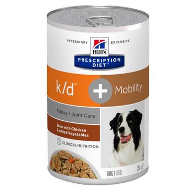 Prescription Diet  k/d + Mobility Stew hundfoder kyckling & grönsaker