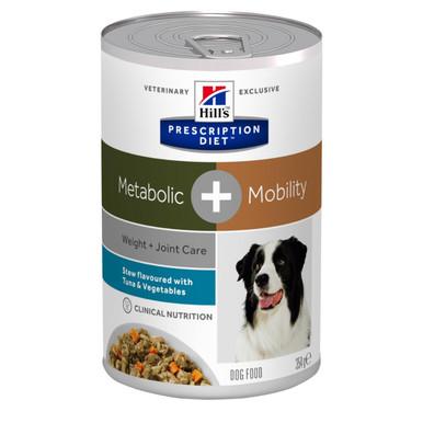 Prescription Diet Metabolic + Mobility Stew hundfoder grönsaker & tonfisk