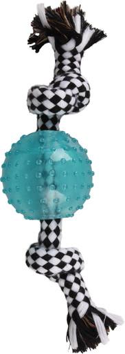 Transparent boll med rep och knutar