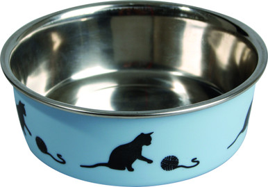 Matskål kattmotiv