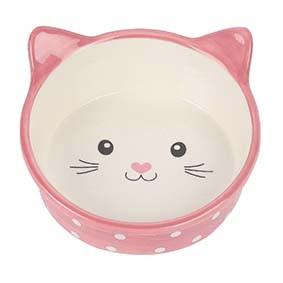 Prickig kattskål i keramik