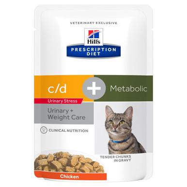 Prescription Diet c/d Urinary Stress + Metabolic våtfoder med kyckling