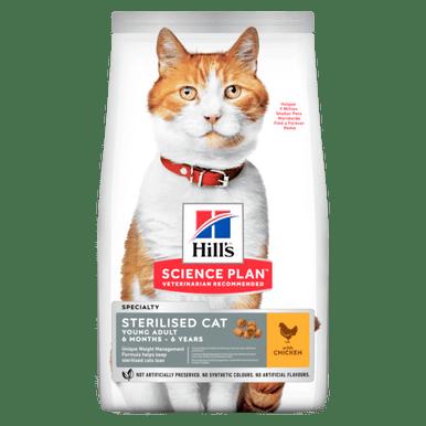 Young Adult Sterilised Cat torrfoder med kyckling
