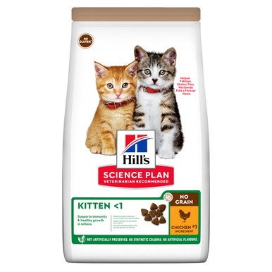 Kitten No Grain torrfoder med kyckling