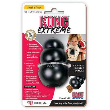 Kong Extreme Svart Gummileksak