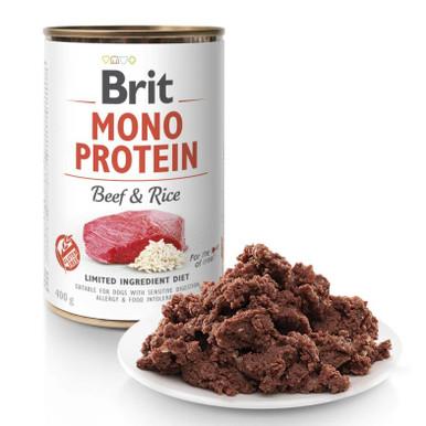 Mono Protein Beef & Rice Våtfoder Hund
