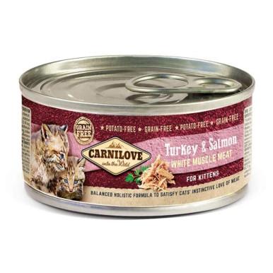White Muscle Meat Turkey & Salmon for Kittens, Våtfoder