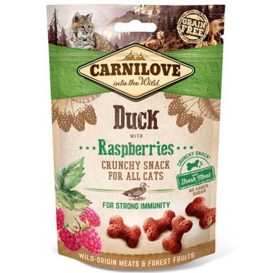 Cat Crunchy Snack Duck & Raspberries